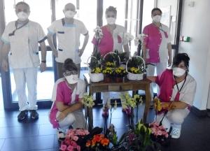 Tence : des fleurs pour les résidents de La Sérigoule