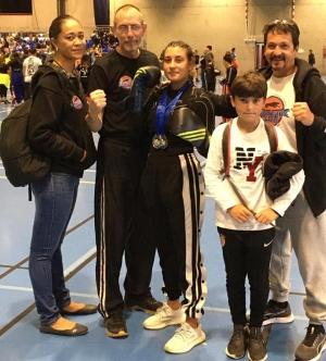 Kick-boxing et full-contact : deux médailles d'argent pour Jade Hendricks à l'Open de Valence