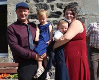 David et Marine Chazalon et leurs bambins.