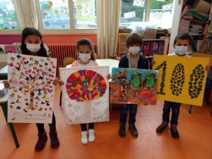 Aurec-sur-Loire : les enfants de Notre-Dame-de-la-Faye fêtent les 100 jours d'école