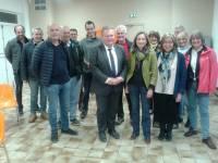 La journée s'est achevée à Saint-Didier-en-Velay avec des élus du Pays de la Jeune Loire.
