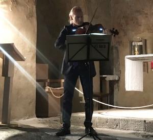 Jens Rossbach électrise  la chapelle Saint-Michel d'Aiguilhe