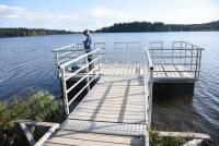 On peut maintenant facilement se promener autour du lac de Devesset