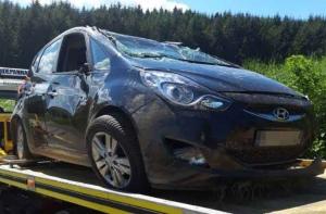 Pont-Salomon : elle s'assoupit, sa voiture part en tonneau
