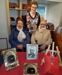 Marie-Louise Digonnet, Claudette Digonnet et Germaine Souvignet, lors de cette séance de dédicaces.