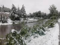 La neige au Puy aussi, ici sur les rives de la Borne.