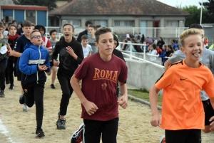 Cross du collège public de Monistrol : les minimes garçons (4e-3e)