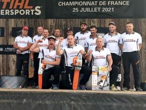 Pierre Puybaret sacré champion de France de bûcheronnage au Puy-en-Velay