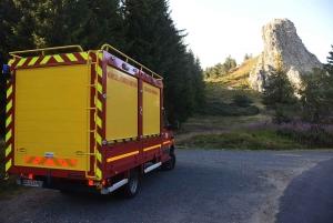 Chaudeyrolles : une femme hélitreuillée après une chute au site d'escalade de la Roche Pointue