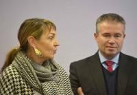 Isabelle Valentin, députée, conseillère régionale et Julien Melin président du Haut-Lignon.