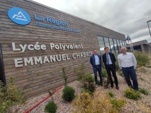 Yssingeaux : un bahut tout neuf et un nouveau proviseur au lycée Emmanuel-Chabrier
