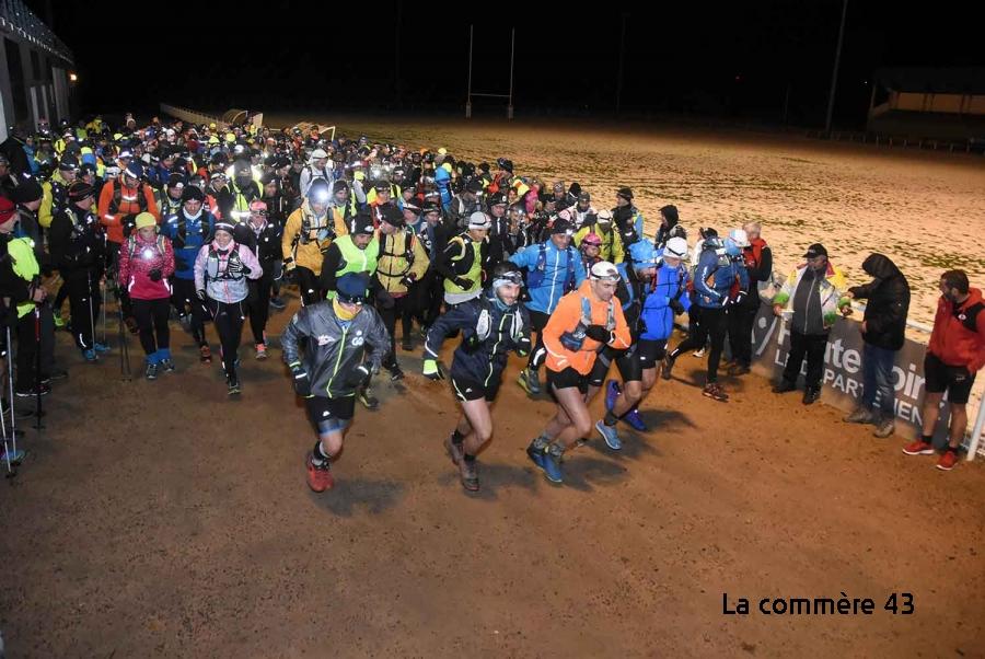 Une nuit blanche pour 325 coureurs entre Le Puy et Firminy - La Commère 43