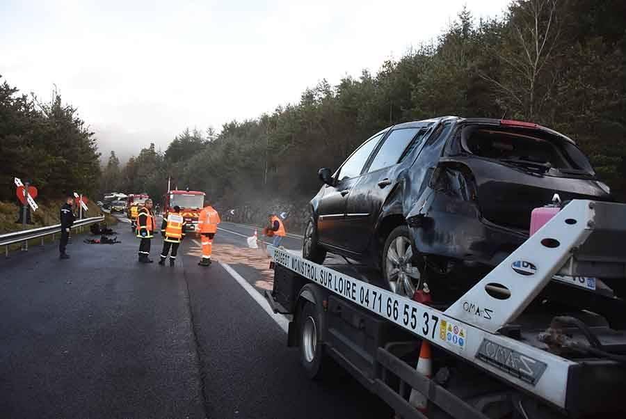 RN88 : accident près du viaduc du Lignon à Monistrol-sur-Loire, d'importants ralentissements