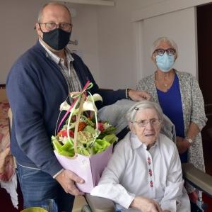 Saint-Just-Malmont : une centenaire à la Résidence Marie-Lagrevol