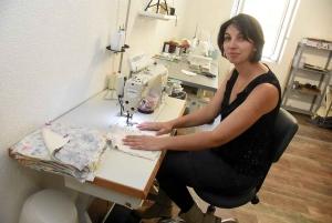 Mylène Clément a aménagé son atelier à l'arrière de la boutique.