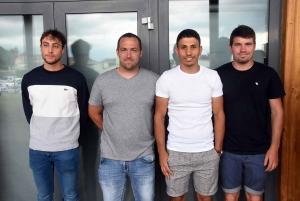 Mattéo Liogier, Arnaud Robert, Yacine Himmit et Boris Chave