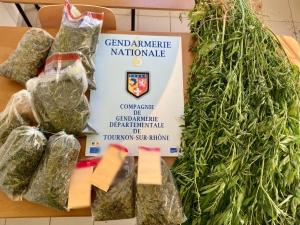 Colombier-le-Jeune : appelés pour des violences conjugales, les gendarmes découvrent du cannabis