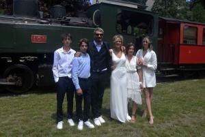 Le Chambon-sur-Lignon : les mariés sont arrivés par le train à vapeur