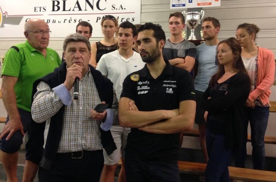 Martin Fourcade et l'équipe de France de biathlon en stage à Beaulieu en juin