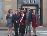 Madeleine Chabanolle et son équipe d'adjoints.