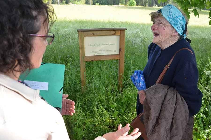 Esther Thillet, née au Moulin de Montabonnel (81 ans le 1er juillet) apprécie de retrouver ces dictons en patois.