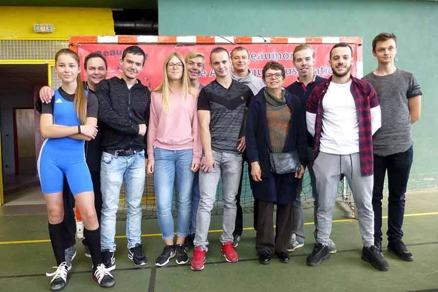 La « team Athlétic-Club » qui accompagnait Coline et Yann à Beaumont