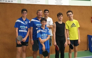 Tennis de table : trois victoires sur quatre pour Yssingeaux