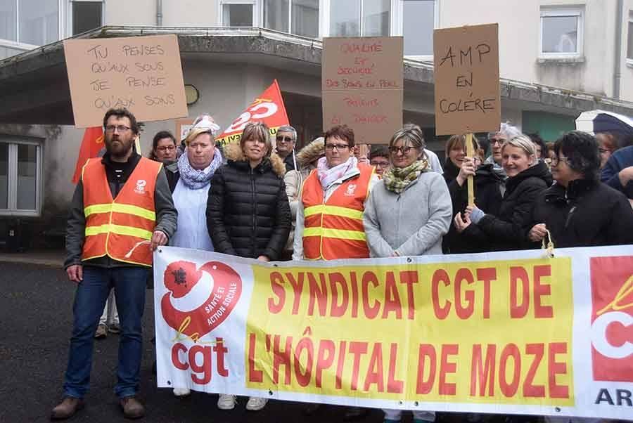 """Saint-Agrève : les salariés de l'hôpital de Moze réclament le retour """"de vraies négociations"""""""