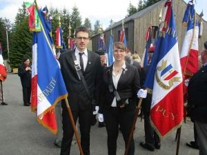 Souvenir Français : les deux porte-drapeaux ont moins de 25 ans