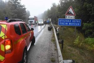 Deux morts lundi matin dans un accident de la route au col de Fix-Saint-Geneys