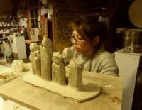 Rosières : l'atelier de poterie expose à la médiathèque