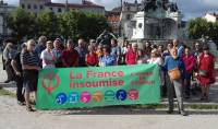 Le rassemblement au Puy-en-Velay, place du Breuil, mercredi.