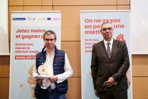 Guillaume Martin, responsable Sécurité Environnement Réglementaire de Sabarot Wassner, et Jean-Luc Dolléans, président de la CCI Haute-Loire