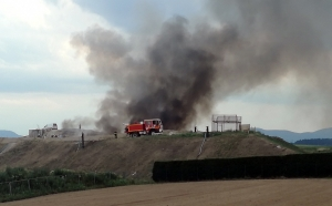 Monistrol-sur-Loire : un feu se déclare sur les déchets au centre d'enfouissement de Perpezoux