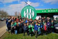 Bas-en-Basset : les jeunes footballeurs supportent les Verts de l'ASSE