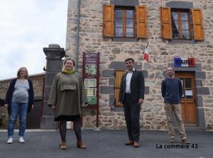 Juliette Tilliard-Blondel et Christophe Bédrossian à la rencontre des électeurs sur le canton de Brioude