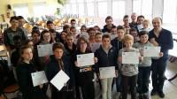 Les élèves ont reçu leur diplôme jeudi.