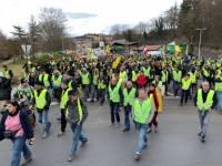 La manifestation régionale des Gilets jaunes au Puy-en-Velay a rassemblé plusieurs milliers de personnes
