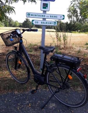 Le jalonnement de la Véloire poursuivi jusqu'à Montrond-les-Bains