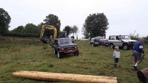 Saint-Romain-Lachalm : les 4 Roumi's préparent le terrain pour le trial 4x4