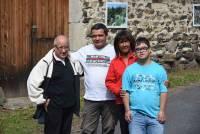 Henri Thivillier, Pascal, Michèle et Arnaud Grataloup.