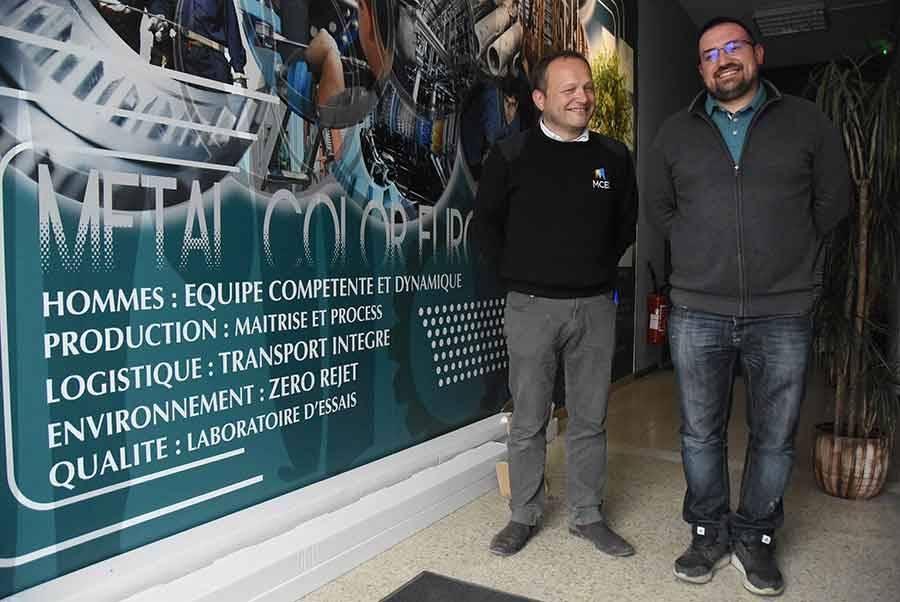 Patrick Charret et Jérôme Januel sont associés à Metal Color Europe