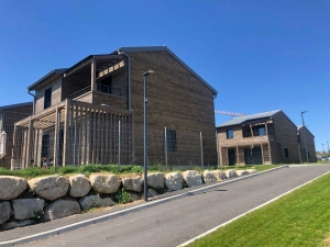 Yssingeaux : le chantier du lycée public Emmanuel-Chabrier dans sa phase finale