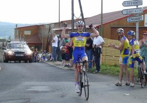 Crédit VCV Nicolas Thomasson dernier vainqueur du VCV à Allègre