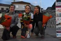 Le podium féminin des 10 km. Photo Lucien Soyere