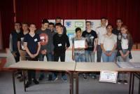 Les jeunes entrepreneurs du collège Saint-Louis au Puy.