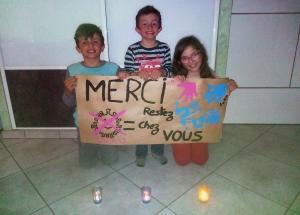 Raucoules : trois enfants soutiennent le personnel soignant