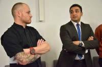 Guillaume Fourcade, chef de Comme à la maison, et Ahmed El Ati Allah, directeur du CFA de Bains.