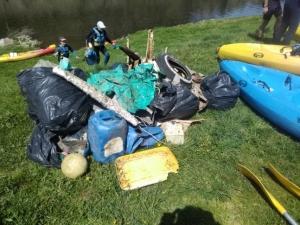 Les Rangers ont enlevé les déchets de la Loire, de Retournac à Bas-en-Basset