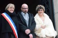 Sandrine Ferrier avec les époux Xavier Magnouloux et Laurence Choiseau